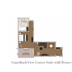 Camelback View Corner Suite with Terrace